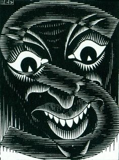 M.c.escher clipart tooth Religiosa of Woodcut May [1932]