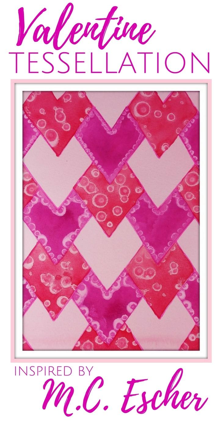 M.c.escher clipart valentine By Tessellation: Valentine Valentine's C