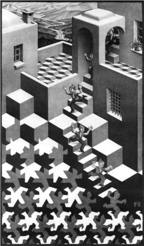 M.c.escher clipart volcano Pin about on Escher Art: