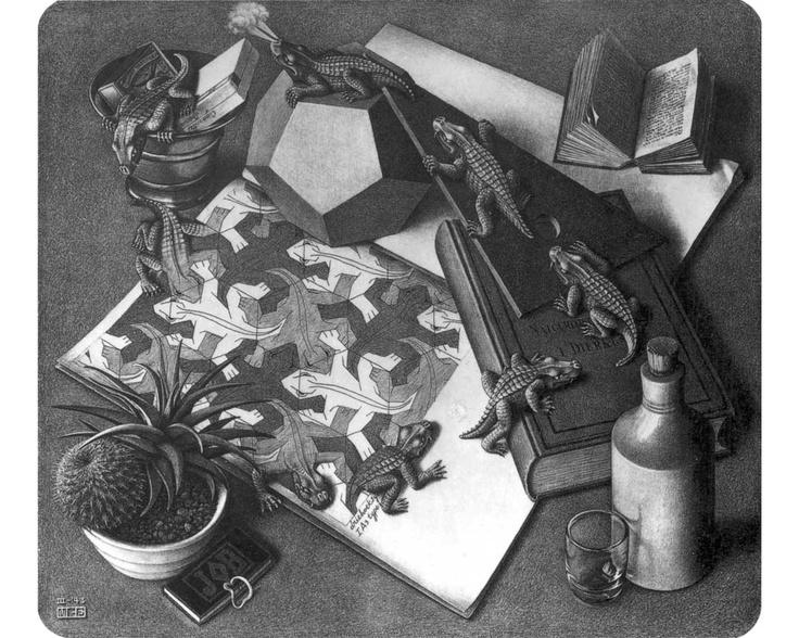 M.c.escher clipart volcano Escher on 74 Pinterest best