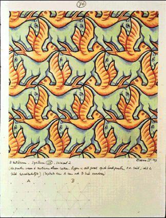M.c.escher clipart volcano Tessellation images about M MC
