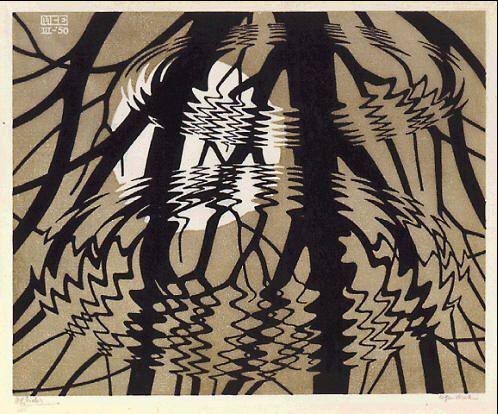 M.c.escher clipart volcano Escher printed 1950 about Pinterest