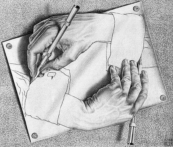 Drawn m.c.escher cute Images Graphic Hands best 18