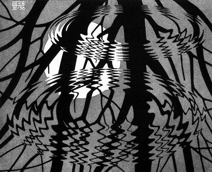 M.c.escher clipart water C Escher: in and on