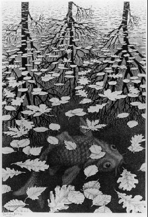 M.c.escher clipart water On 178 images Escher about