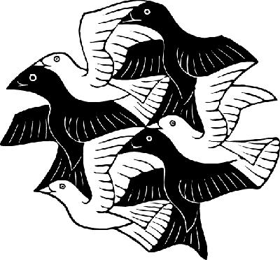 M.c.escher clipart water More and M Escher Escher