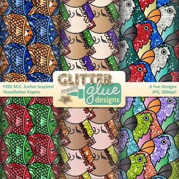 M.c.escher clipart winter Tessellation Designs by Brag Tags}