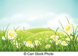 Meadow clipart Grass with Spring  meadow
