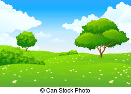 Meadow clipart Trees with Illustrations royalty Meadow