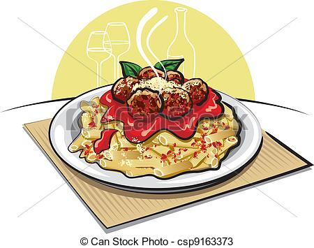 Pasta clipart spaghetti and meatball Sauce meatballs and  and