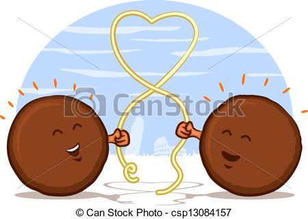 Meatball clipart cute Cartoon Vector with Cartoon Meatball