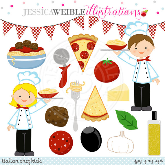 Pasta clipart italian chef Cute Use Kids Chef