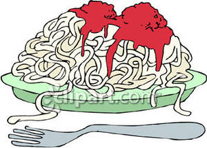 Pasta clipart spaghetti and meatball Of Clipart with By a