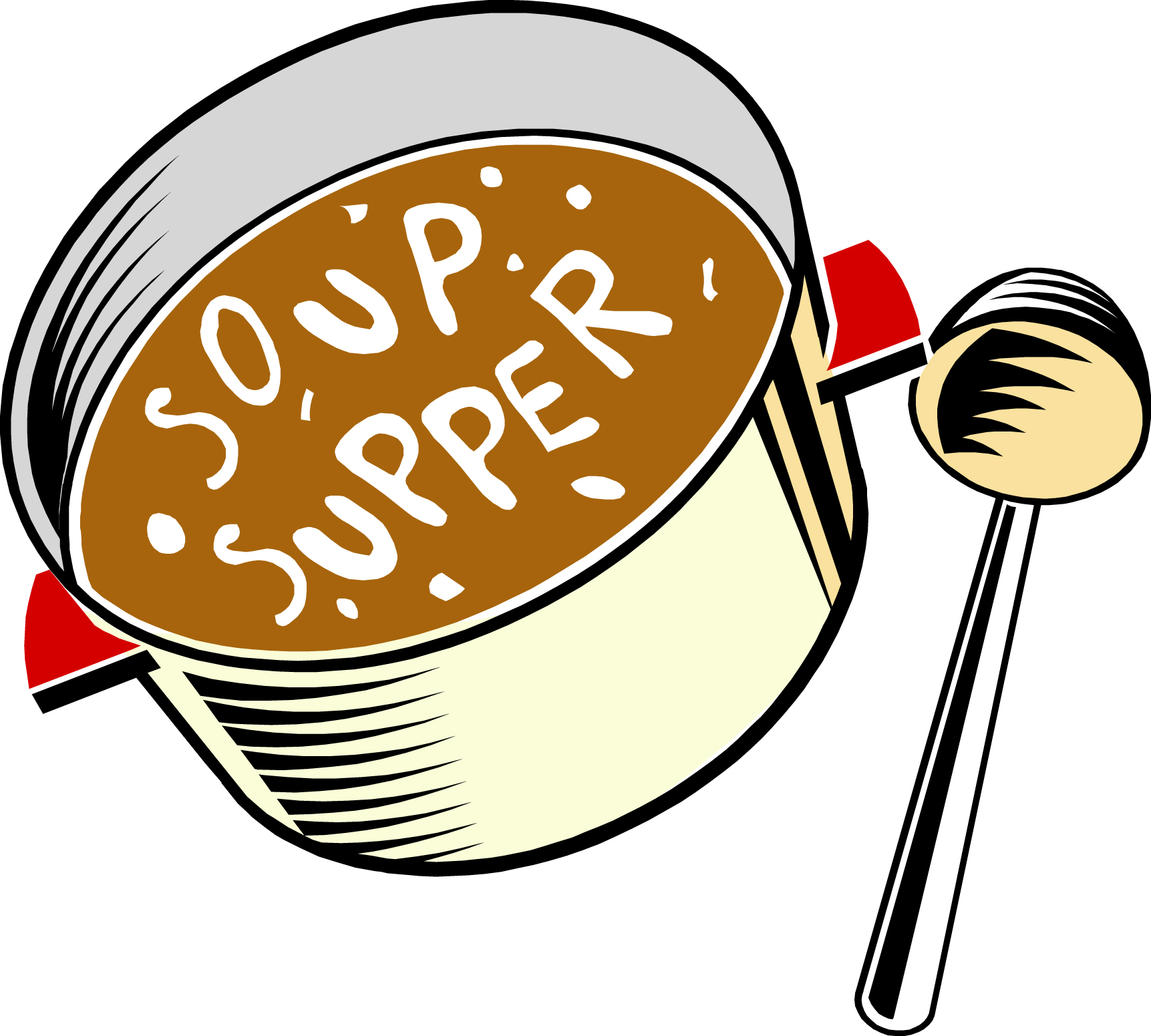 Soup clipart potluck dinner  cliparts on Supper Clip