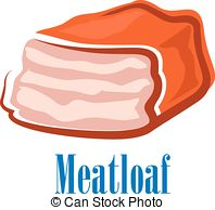 Meatloaf clipart Cartoon fresh art isolated in