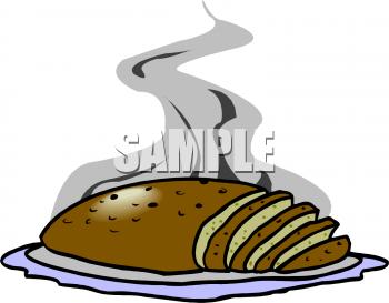 Meatloaf clipart A meatloaf and Image sliced