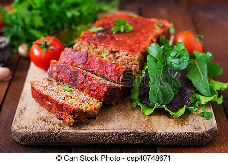 Meatloaf clipart ground beef  Homemade with ground vegetables