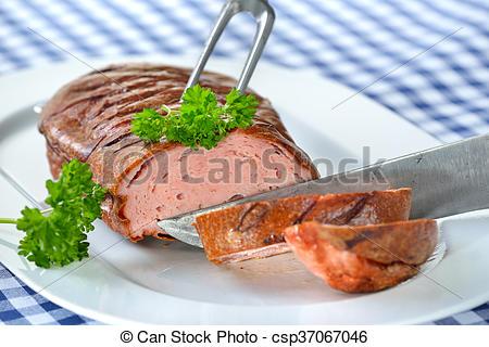 Meatloaf clipart roast beef  loaf Bavarian Stock csp37067046