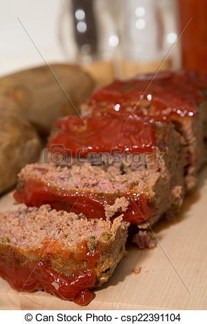 Meatloaf clipart roast beef  Sliced Fresh csp22391104 Meatloaf