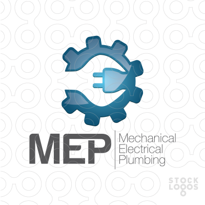 Mechanical clipart electrical work (Mechanical Customizable Logo MEP Sale: