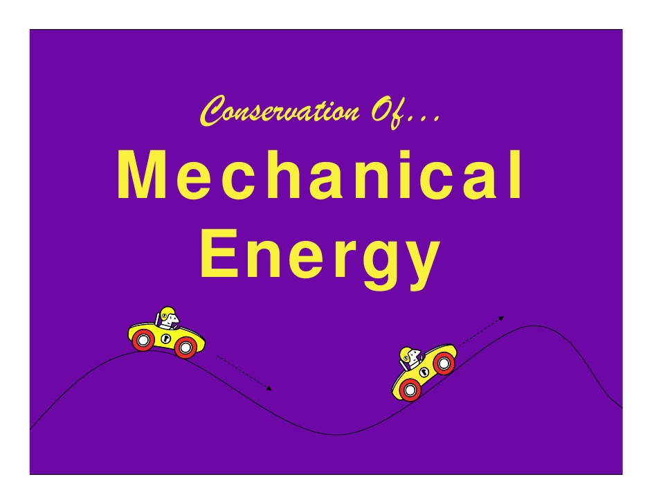 Mechanical clipart mechanical energy Of Conservation Of… Energy Energy
