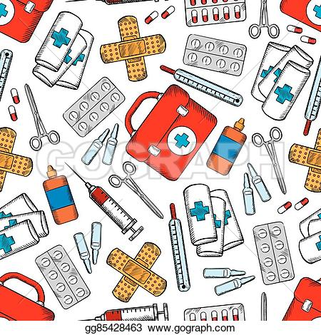 Medicine clipart antiseptic Medicines  medical seamless and