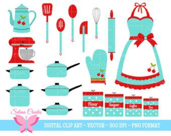 Medical clipart apron Clip Art Etsy Retro Pots