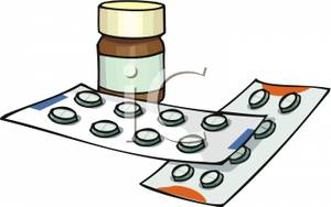 Medicine clipart meds Clip Two Medicine and of