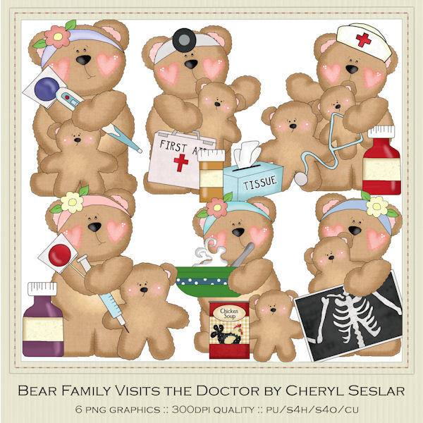 Medical clipart teddy bear Clip Clip products use Visits