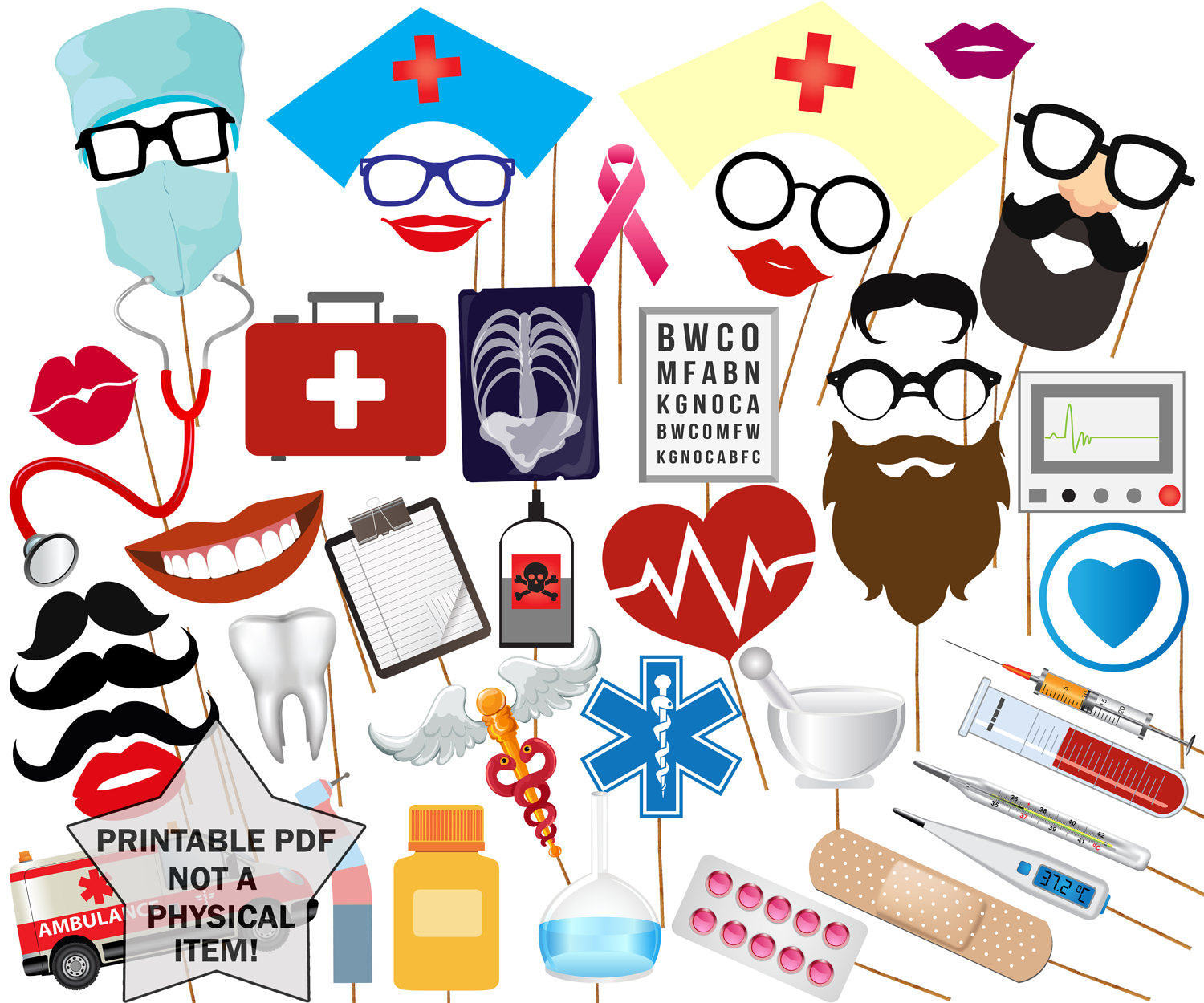 Party clipart nurse PROPS