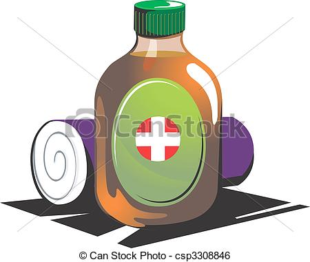 Medicine clipart antiseptic First cleaning  of aid