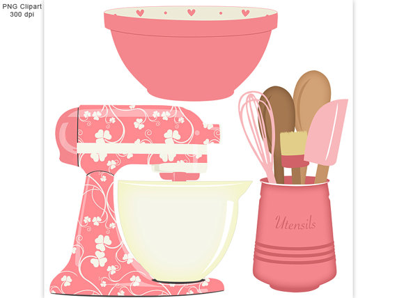 Pink clipart mixer Baking by set Baking 50