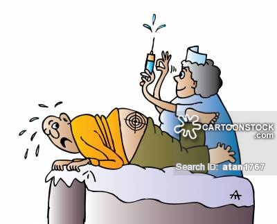 Shoot clipart nurse needle Injected and cartoon Comics from