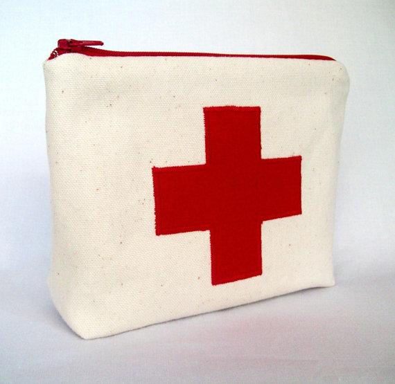 Medicinal clipart medical bag First aid Pouch 7 x