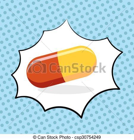 Medicinal clipart medicine Pill drugs illustration Vector EPS