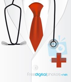Coat clipart doctor coat With Solution Stethoscope Filled Cartoon