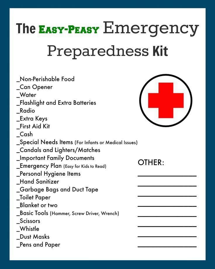 Medicinal clipart survival kit Kit 25+ ideas Checklist on