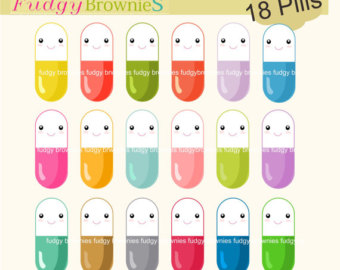 Medicine clipart cute Cute clip cute SALE Tablet