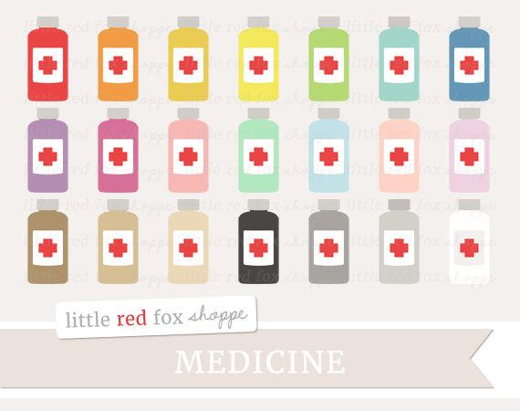 Medicine clipart cute First Nurse Medical Bottle Clipart