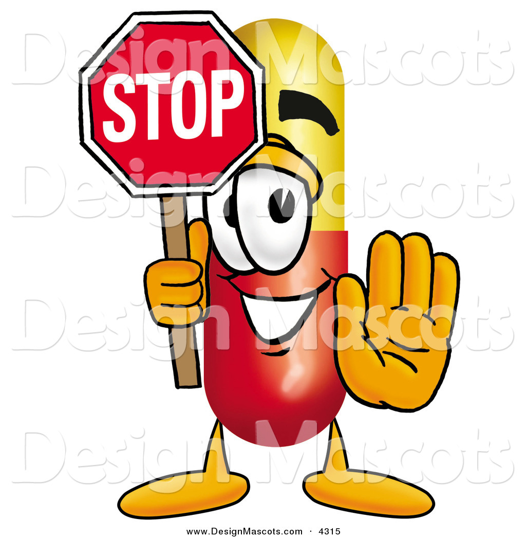 Medicine clipart happy Character of Cartoon Medicine Holding