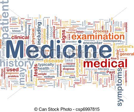 Medicine clipart health and medicine Concept of background Illustrations csp6997815
