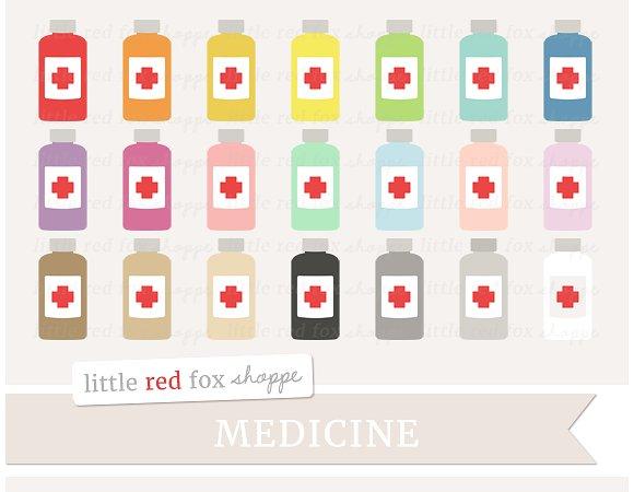 Medicine clipart item Graphics Medicine Bottle on Creative