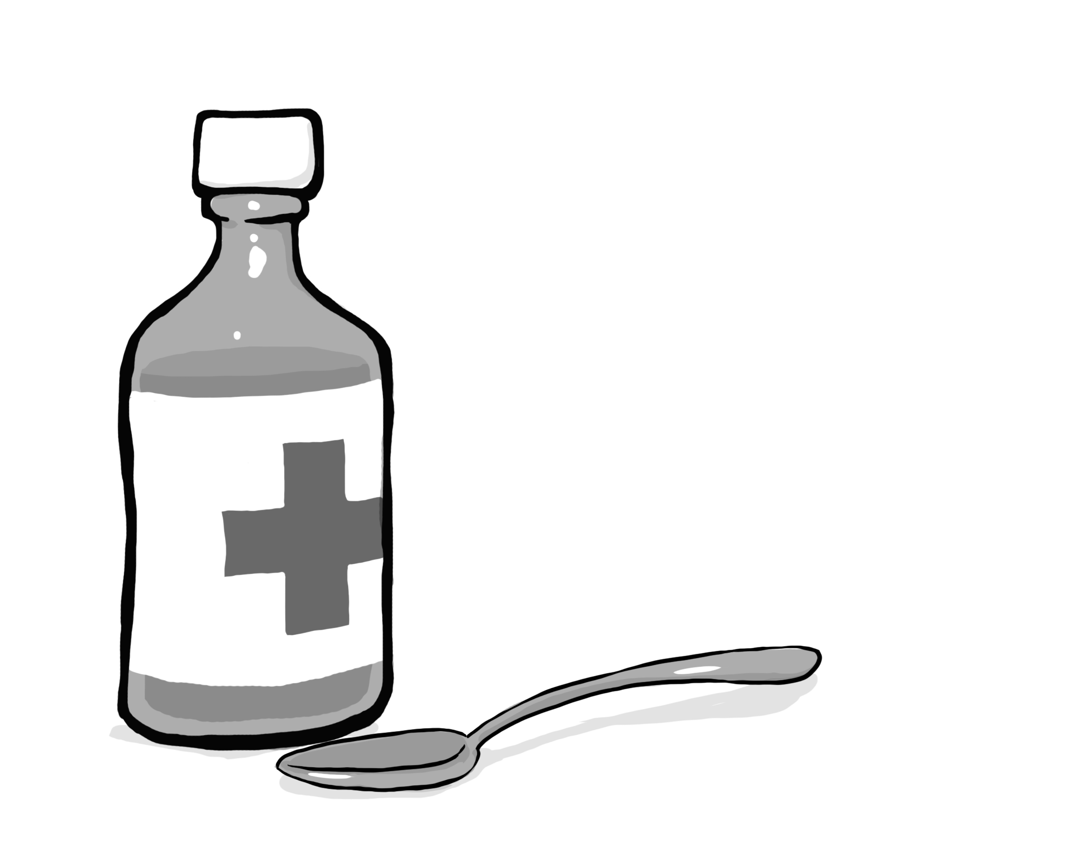 Medicine clipart liquid medicine Bottle When Doctor: to Liquid