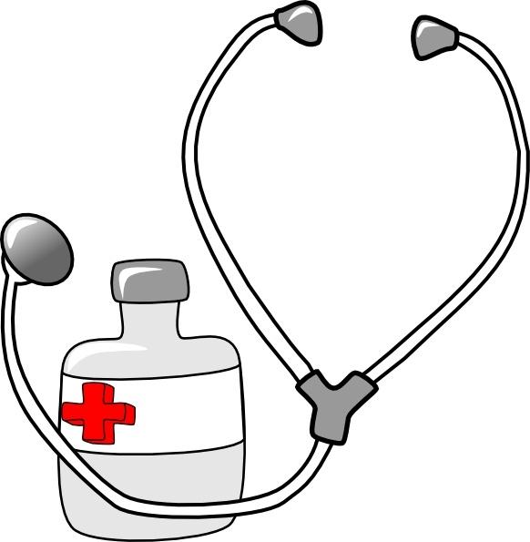 Medicine clipart vector Vector clip Stethoscope Medicine Free