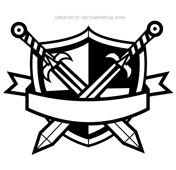 Rennaisance clipart medieval sword Medieval Vintage Banner Collection Clipart