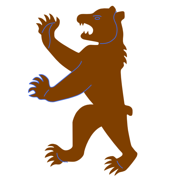Larger clipart grizzly bear Big as: at Clker art