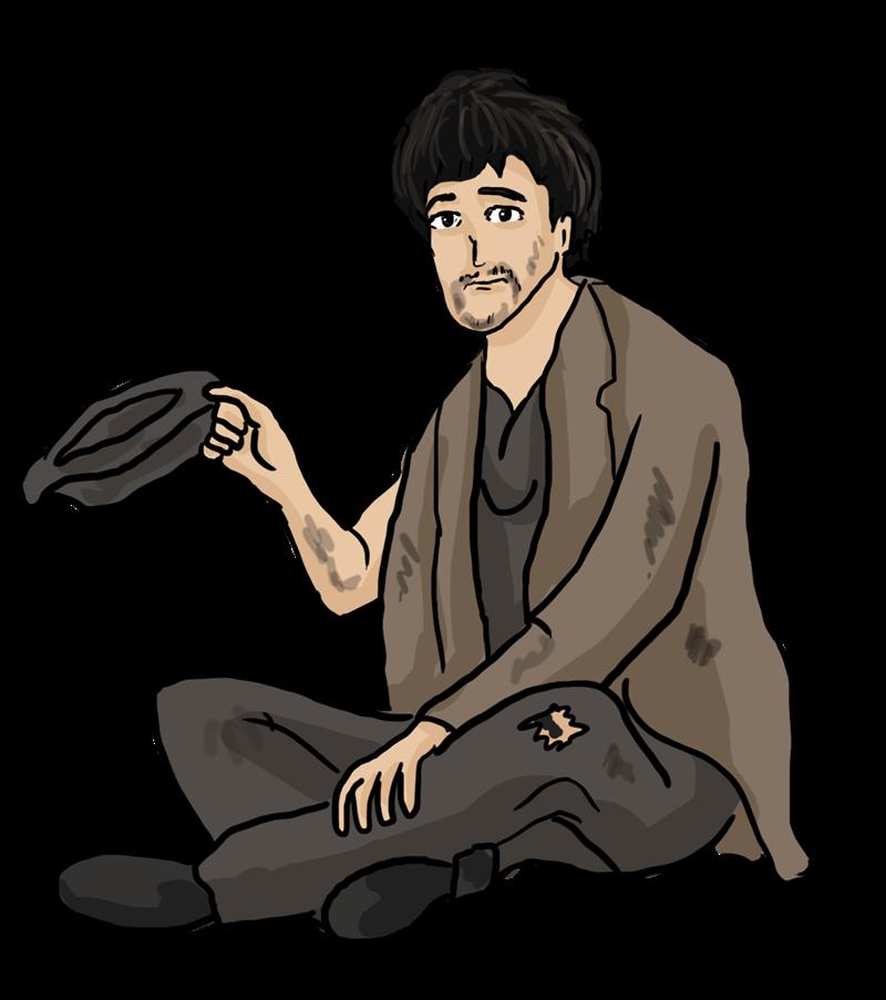 Medieval clipart beggar  Collection clipart beggar Beggar
