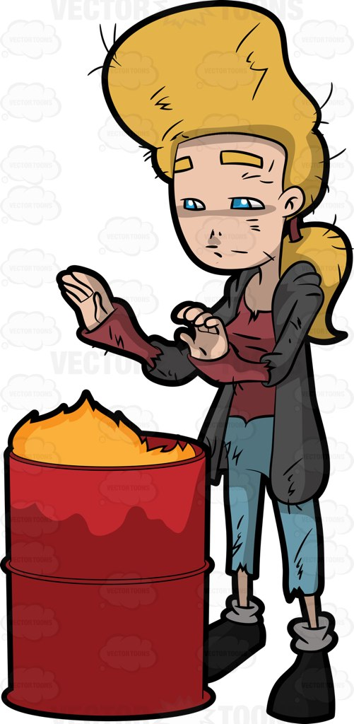 Medieval clipart beggar Garbage Placing Clipart Herself Hands