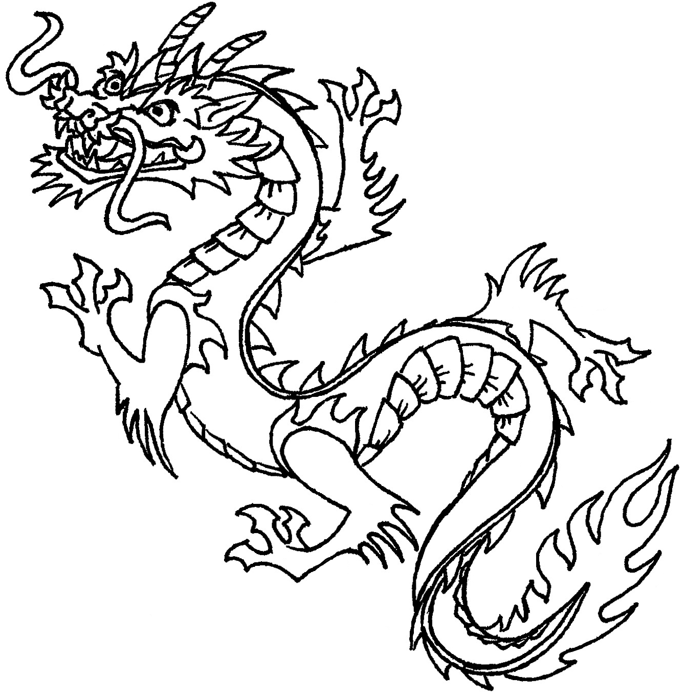 China Town clipart traffic jam Dragon Dragon Dragon Coloring Kids