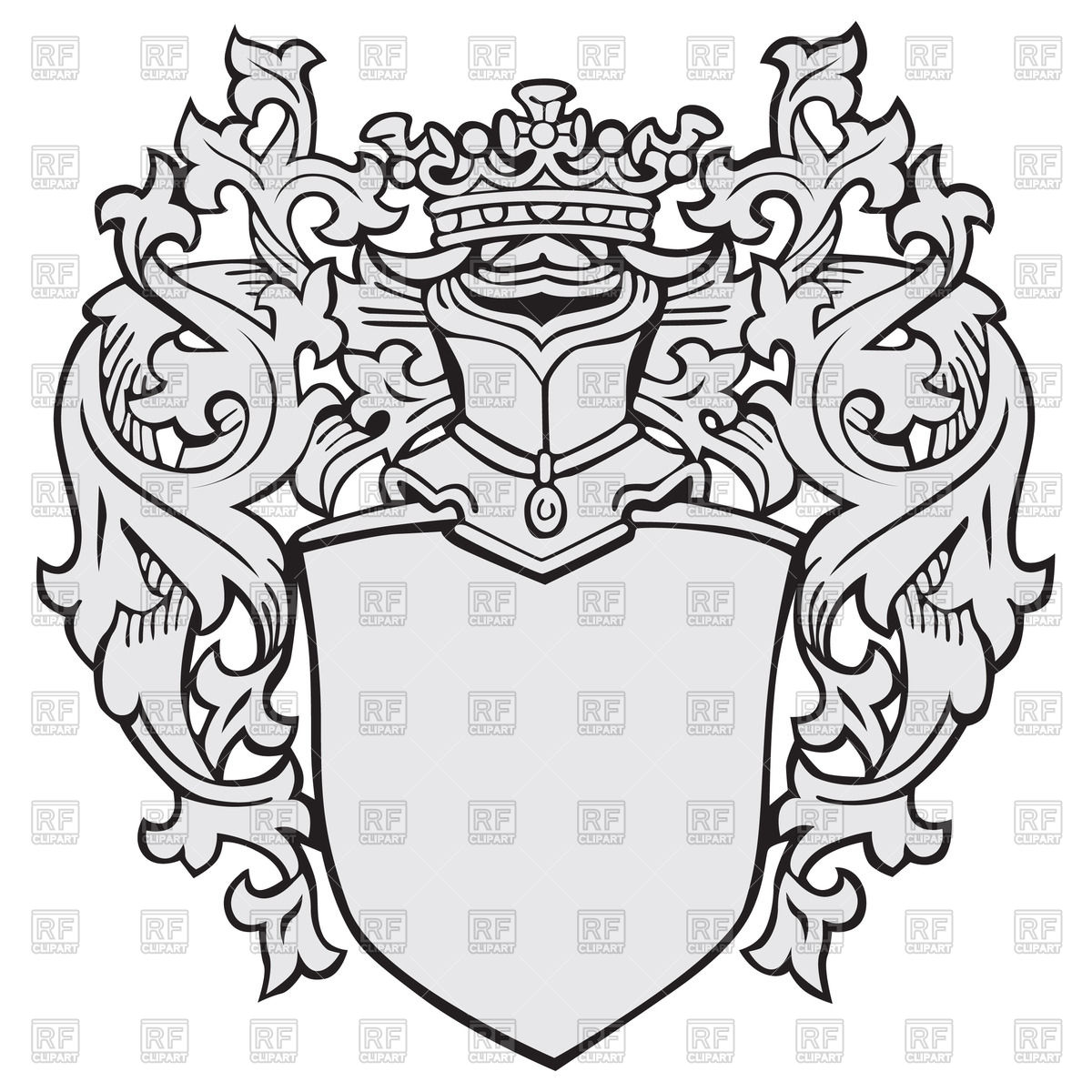Medieval clipart crest Heraldic Royalty arms Download of